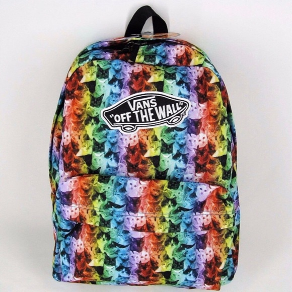 25dca8e07a Vans Off The Wall ASPCA Realm Rainbow Cat Backpack.  M 5a6113053800c5d869297b12